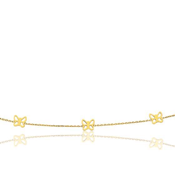 collier or papillon