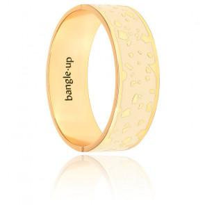 Bracelet Lucy en laiton et plaqué or blanc sable