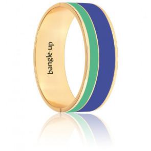 Bracelet Vaporetto en laiton et plaqué or vert et bleu