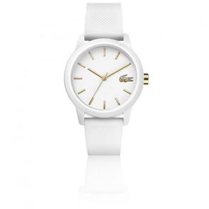 Montre Femme 12.12 Bracelet Petit Piqué Blanc 2001063