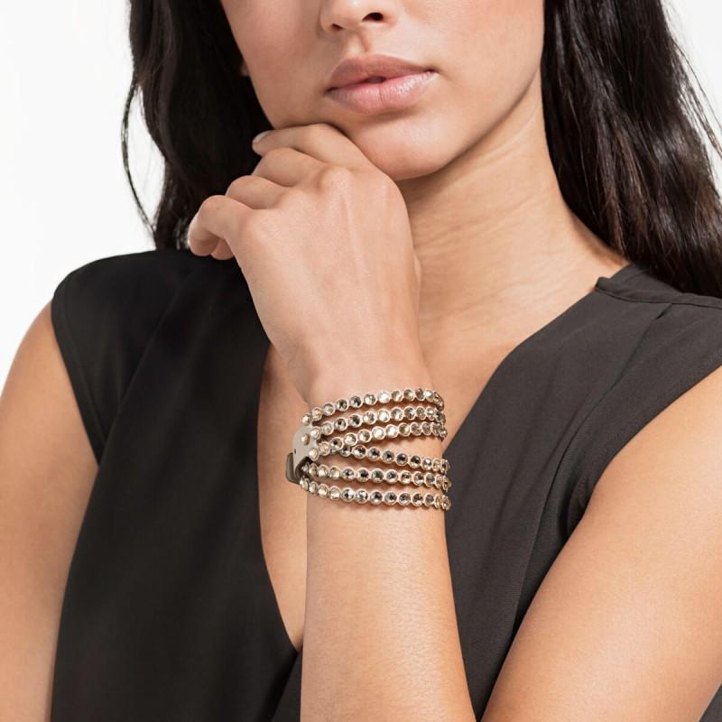 Bracelet Swarovski power collection marron