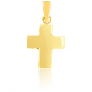 Croix bombée or jaune 18K