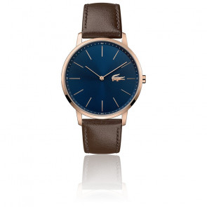 Montre Homme Moon Bracelet Cuir Marron 2011018