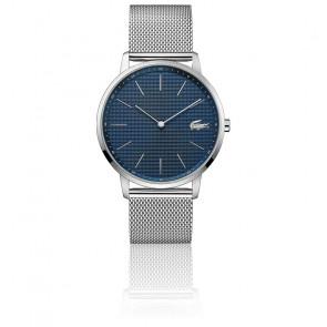 Montre Homme Moon Bracelet Maille Milanaise Cadran Bleu 2011005