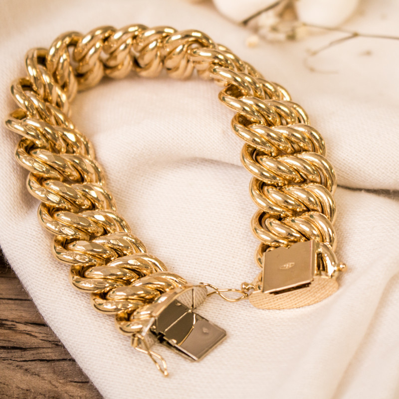collier maille americaine homme