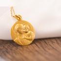 Médaille Vierge à l'Enfant Buste Or Jaune 18K