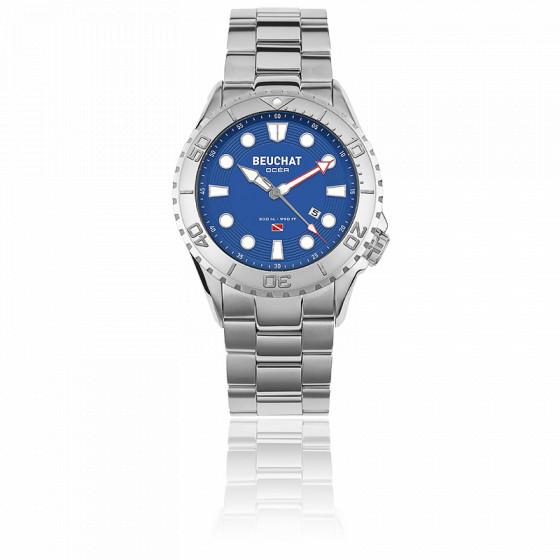 Montre Ocarat 2 Saphir Beuchat Beu0098 Ocea Color Bleu ARj54L3
