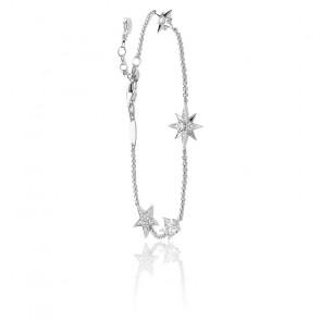 Bracelet 4 étoiles argent 925 & zircons, A1916-051-14