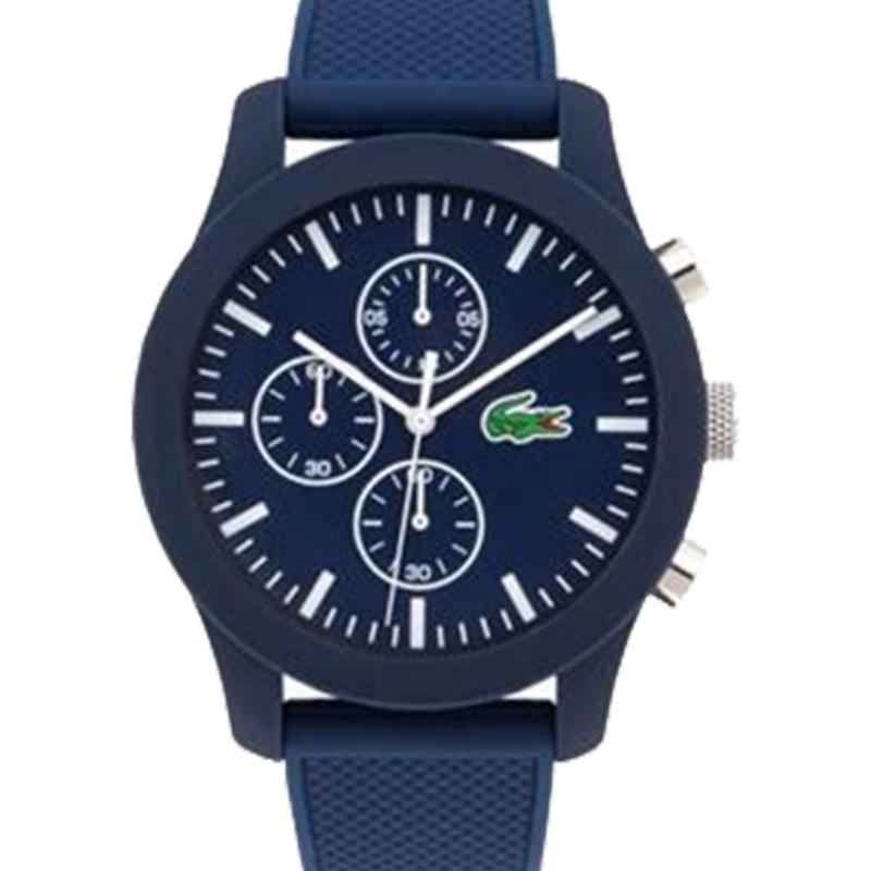 Bleu Lacoste Bracelet Ocarat 2010970 Homme 12 12 Montre Silicone m80vnwN