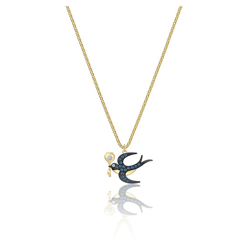 Collier tarot magic bleu & métal doré, 5490922