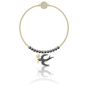 Bracelet remix collection swallow strand, métal doré