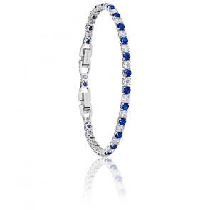 Bracelet tennis deluxe métal rhodié, 5506253