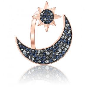 Bague symbolic moon, multicolore, métal doré rose