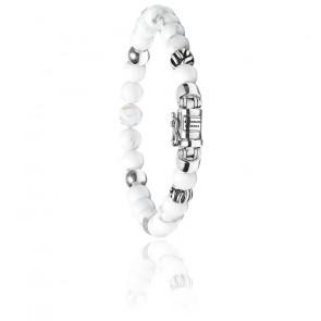 Bracelet spirit bead mini white howlite
