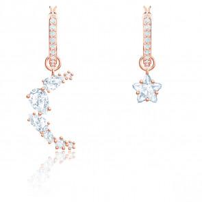 Boucles d'oreilles drop Penélope Cruz Moonsun, blanc, métal doré rose, 5486354