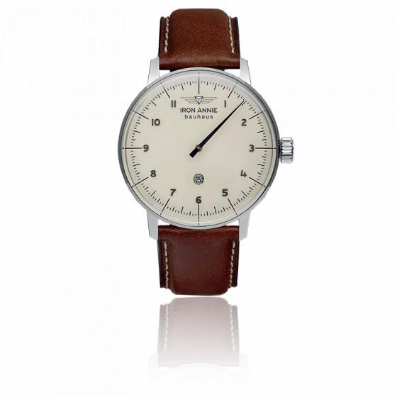 Montre Bauhaus Monoaiguille Crème 5040-5
