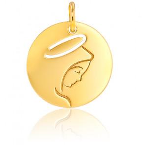 Médaille Vierge Marie ajourée, or jaune 9K ou 18K