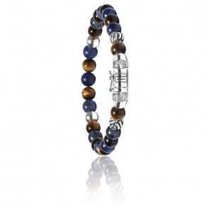Bracelet spirit bead mini mix sodalite tigereye