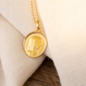 Médaille Ovale Vierge De Profil Or Jaune