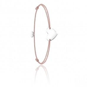 Bracelet little secret coeur & argent, LS026-173-19