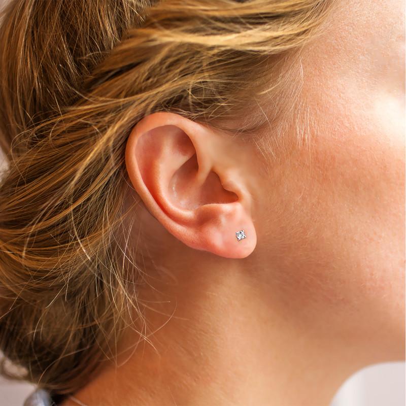 10K Homme Or Jaune Round Diamond 11 mm lunette à 4 Broches Clous Boucles d/'oreilles 3//4 Ct