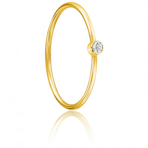 Bague Lonely Star Diamant & Or Jaune 18K