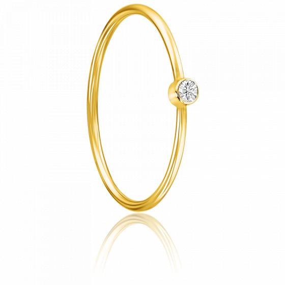 style actuel expédition gratuite beauté Bague Lonely Star Diamant & Or Jaune 18K - Ocarat