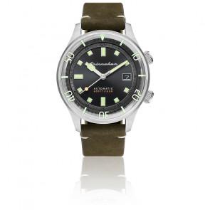 Montre Bradner Cadran Noir Cuir Vert SP-5062-02