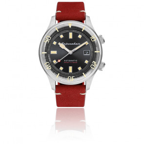 Montre Bradner Cadran Noir Cuir Rouge SP-5062-01