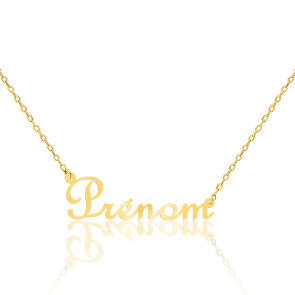 Collier prénom or jaune 9K