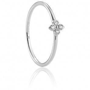 Alliance Arjona or blanc 18K & diamants