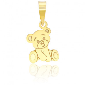 Pendentif ours or jaune 9K