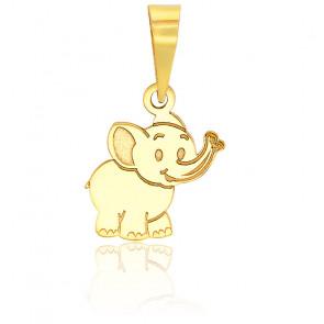 Pendentif éléphant or Jaune 9K