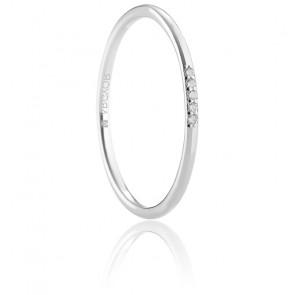 Alliance Baena or blanc 18K & diamants