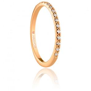 Alliance Langa or rose 18K & diamants