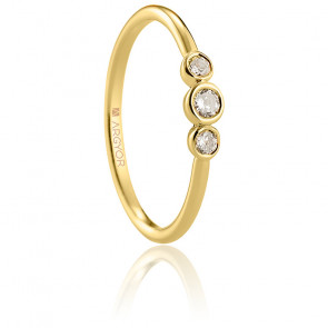 Bague solitaire Salar or jaune 18K & diamants