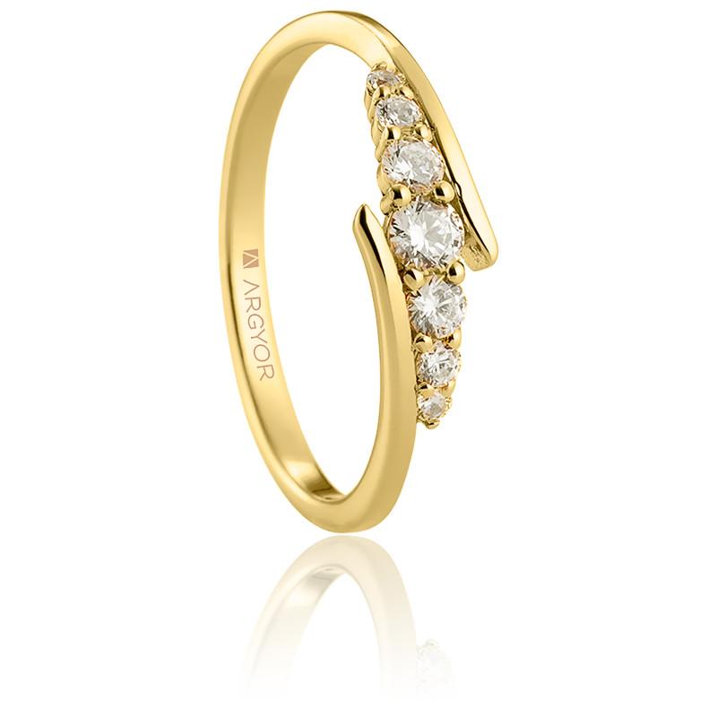Bague solitaire Olvera or jaune 18K & diamants