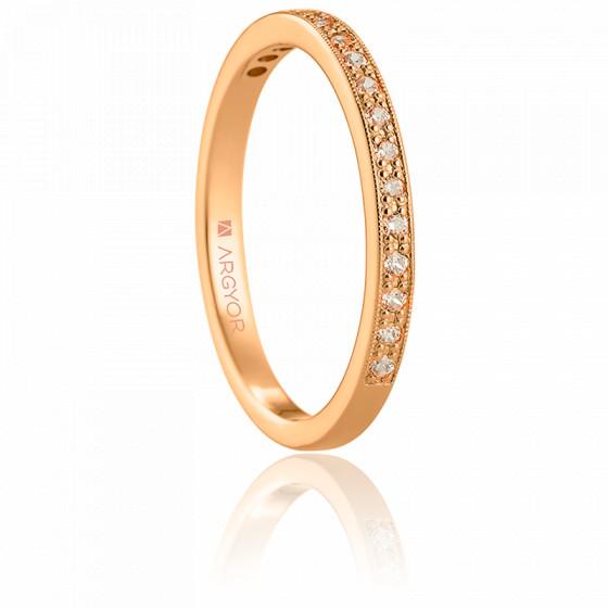 Alliance Lzaza or rose 18K & diamants