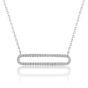 Collier raffiné Sabrine diamant & or blanc