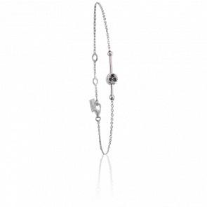 Bracelet Swing Argent & Saphirs noirs