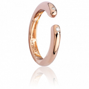 Bague Infinie Diamants & Vermeil Plaqué Or Rose 18K