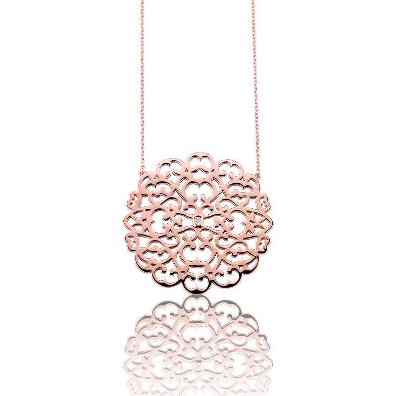 collier dentelle vermeil or rose ocarat. Black Bedroom Furniture Sets. Home Design Ideas