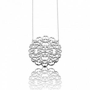 Collier Dentelle Argent & Diamant