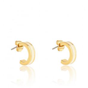 Boucles d'oreilles mini créoles bangle blanches