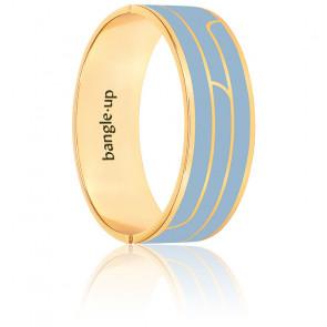 Bracelet gaya bleu glacier