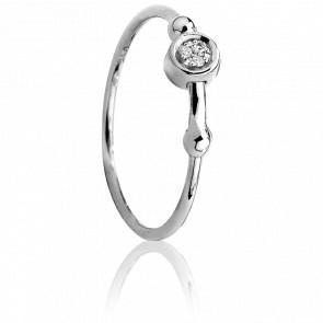Bague Swing Argent & Diamants