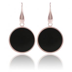 Boucles d'Oreilles cercle noir