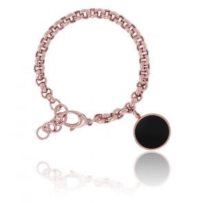 Bracelet avec médaille onyx