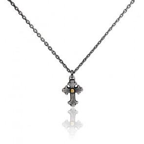 Collier croix argent massif 925