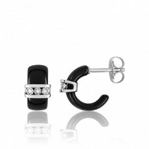 Boucles d'oreilles Cosse de diamants - Ultimate Ceramic